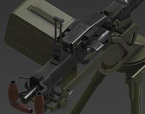 3D model DSHK gun