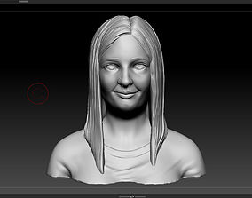 head girl 3D printable model sculpture