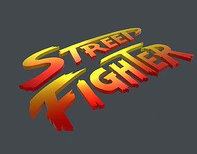 LOGO-004 Street Fighter 3D asset