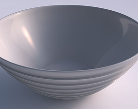Bowl wide with horizontal layers 3D printable model