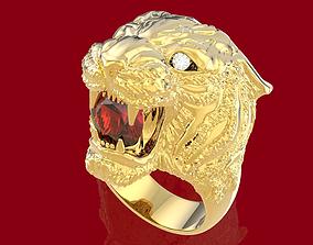 3D print model Tiger ring
