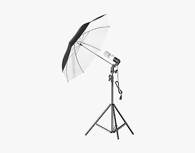 3D model Umbrella Lighting Single Light Bulb