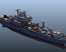 frighter Containter Ship 3D