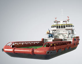 KVP Multi Purpose Offshore Vessel construction 3D model