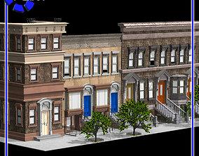 3D model Brownstone Street Scene 1
