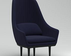 3D Lunar High Back Chair