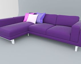 Ikea Nockeby Leather Sofa VR AR 3D model