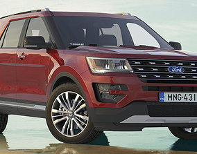 3D Ford Explorer 2016 SUV Simple Interior
