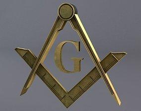 3D model Free Masonic Grand Lodge Sign