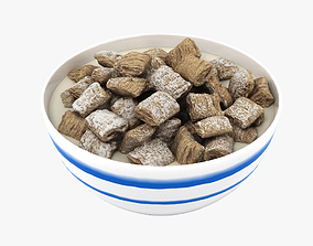 3D model Bowl of Cereal 002