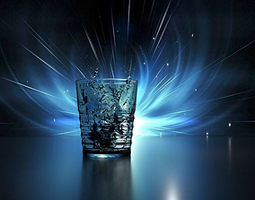 3D asset Glass Cup