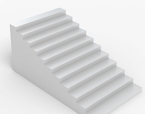 White Stairs 3D model sign