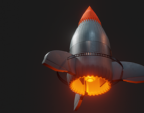 scene 3D model VR / AR ready Rocket