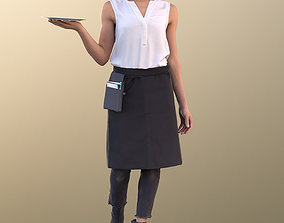 Diana 10889 - Female Waitress Serving 3D model