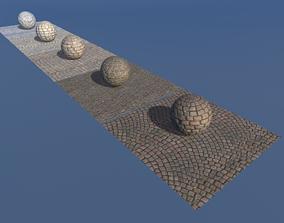 Pack Cobblestone Floor PBR 3D