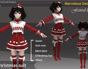 Christmas Clothes Outfit Marvelous Designer CLO 3d FBX