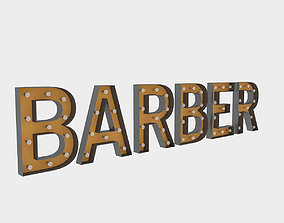3D Barber Sign With Bulb