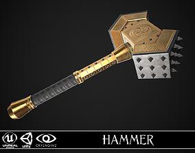 Fantasy Hammer 02 3D asset