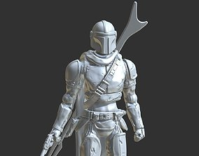 MANDALORIAN inspirited action-figure 3D print model