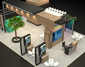 3D Exhibition Stand 10 x 15 x 4 meter tv