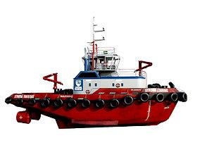 3D asset Tug boat 30 m