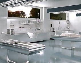 Autopsy Morgue Laboratory 3D model realtime