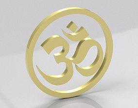 Indian Hindu Buddhist YOGA OM simbol 3D model
