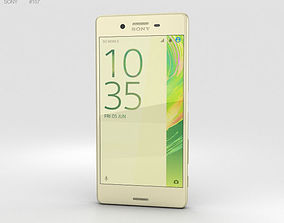3D Sony Xperia X Lime Gold