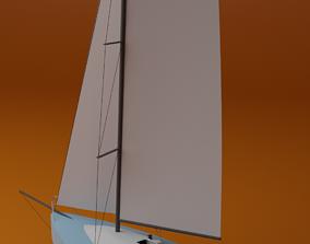 3D model sailing boat mini 650