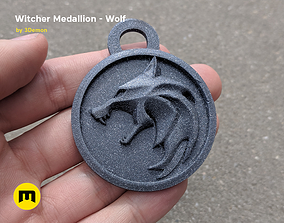 3D print model Collection Witcher amulet Wolf