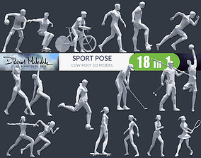3D asset Low Poly Sport Pose PACK