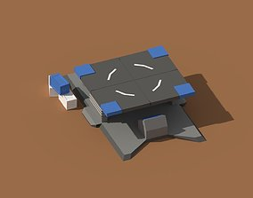 3D asset Low Poly Scifi Loading Pad