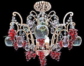 3D classic glass chandelier