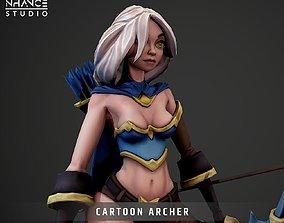 3D asset Cartoon Archer