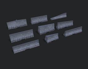 Road Barriers Collection 3D model