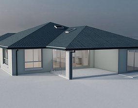 gutter 3D model House Hurley