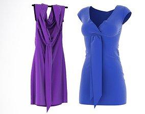 Violet And Purple Dress 3D model
