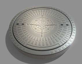 3D model Sewer Cover 4 Textured High-Poly Version
