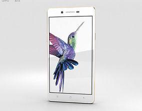 Oppo Neo 7 White mobile 3D model