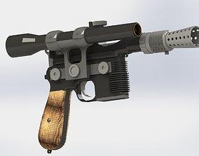 DL 44 Han Solo blaster pistol from Star 3D printable model
