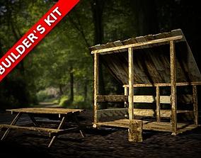Lumber Kit - Rough-Hewn Texture 3D model