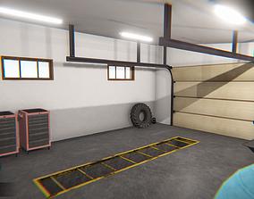 3D model Garage - interior and props