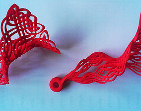 3D print model Knight Knot Earrings