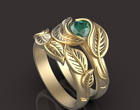 flower ring and back ring 3D print model