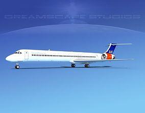 3D model McDonnell Douglas MD83 SAS1