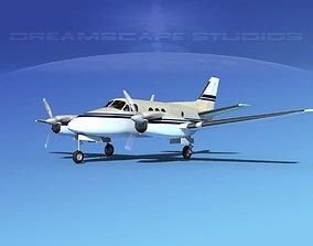 3D Beechcraft King Air 100 V03