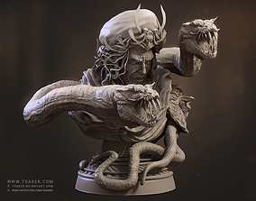 3d Bust model - Evil Lord creature