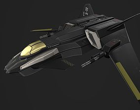 X-72 Vengeance Fighter Craft 3D asset VR / AR ready