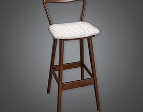3D model Retro Bar stool Midcentury Collection PBR Game