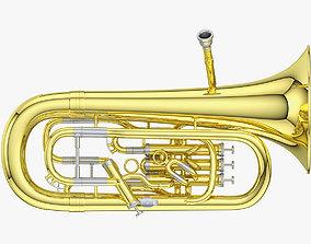 Euphonium 3D brass